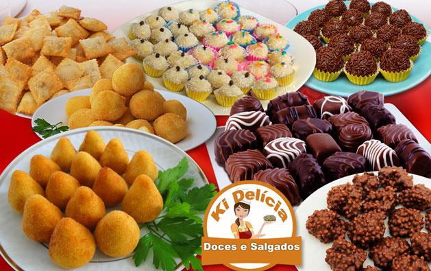 100 Salgados OU 100 Docinhos OU 100 Chocolates!